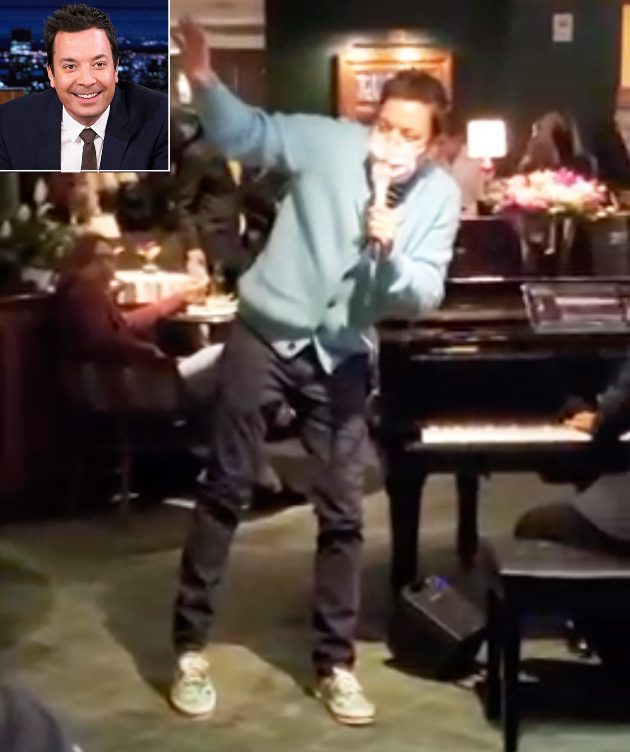 Jimmy Fallon Leads Impromptu 'Sweet Caroline' Performance at Polo Lounge in Beverly Hills