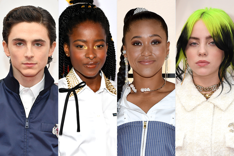 Timothée Chalamet; Amanda Gorman; Naomi Osaka; Billie Eilish
