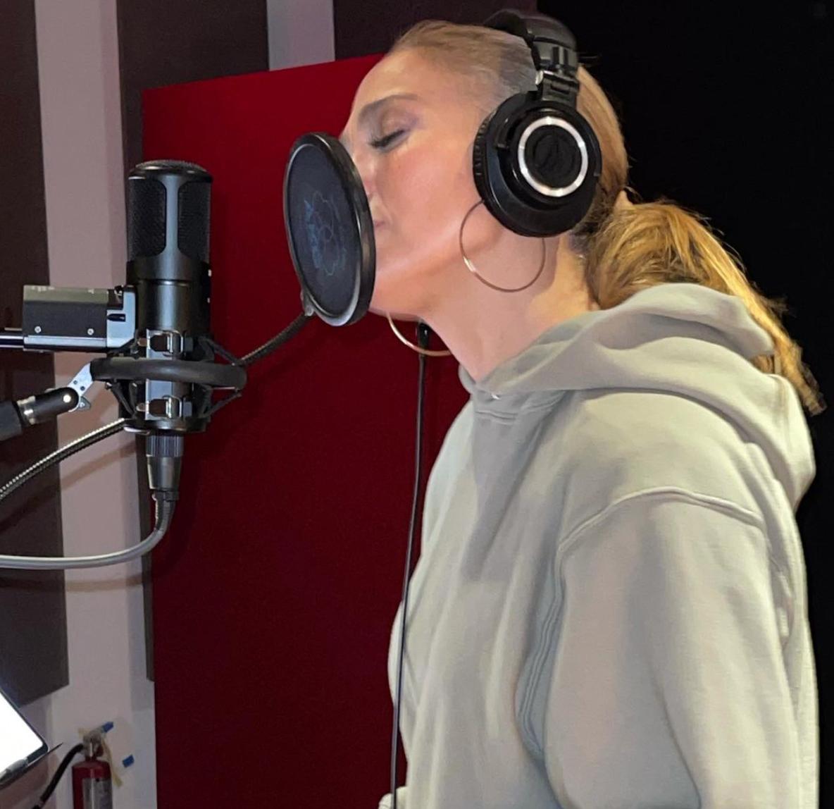 Jennifer Lopez recording