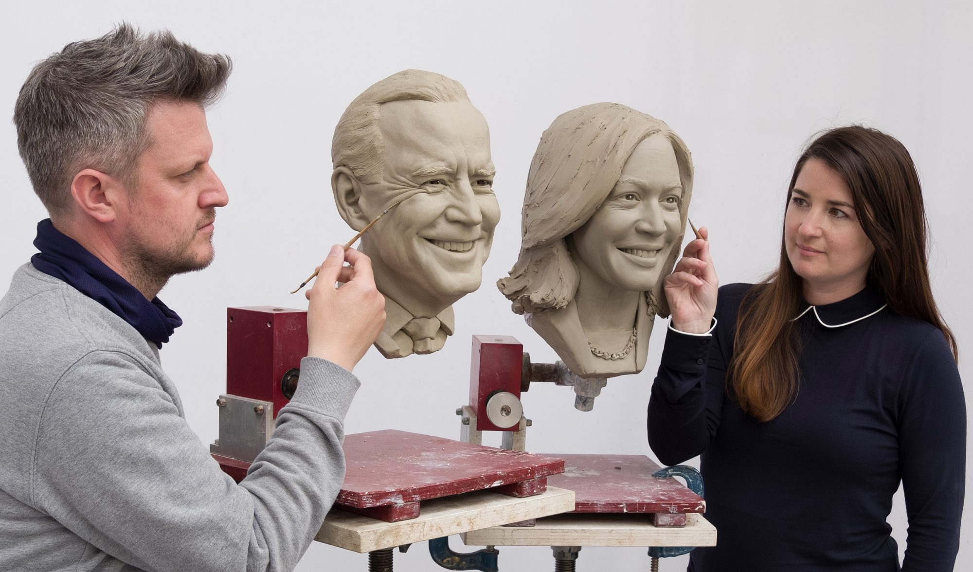 President Joe Biden and Vice President Kamala Harris Madame Tussaud's Wax Figure