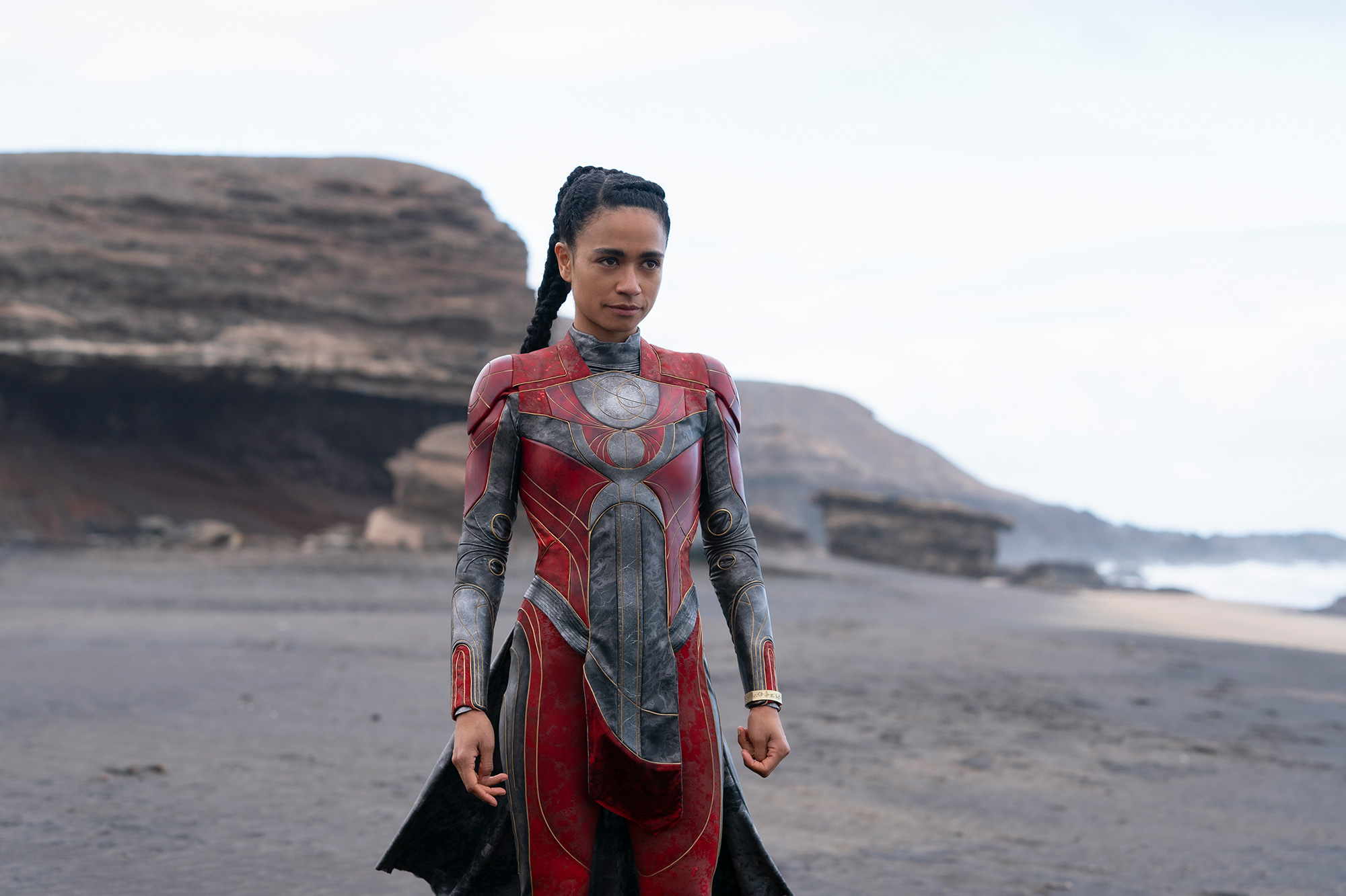 Makkari (Lauren Ridloff) in Marvel Studios' ETERNALS.