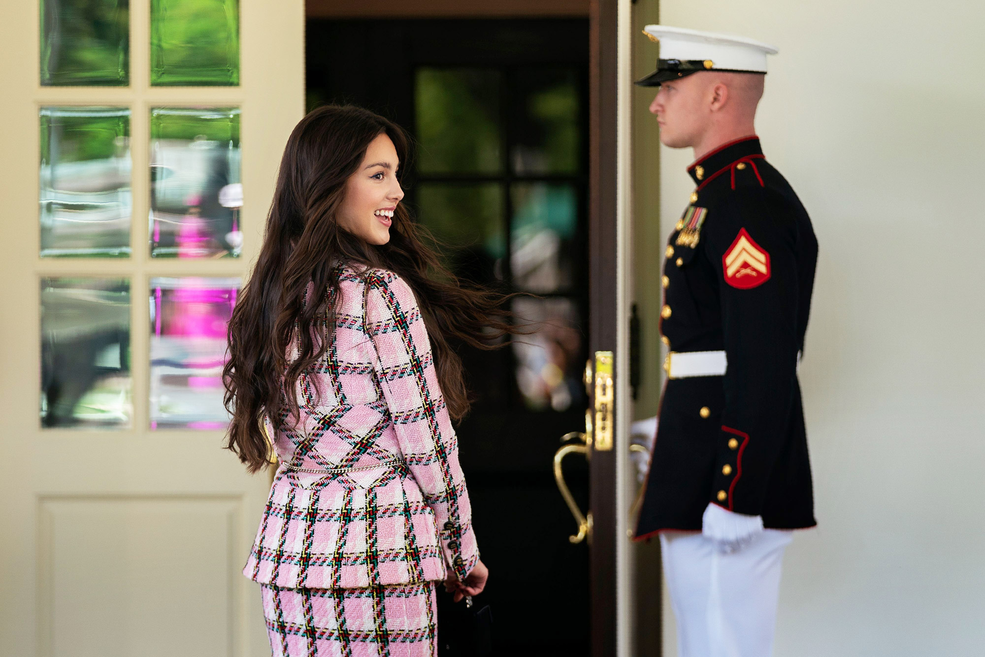 Pop Star Olivia Rodrigo Arrives At The White House To Record Videos Promoting Covid Vaccinations