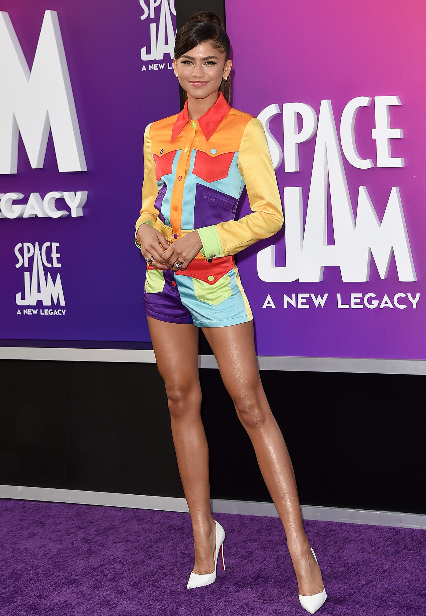 """Zendaya attends the Premiere of Warner Bros """"Space Jam: A New Legacy"""""""