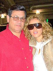 Abraham Quintanilla y Paulina Rubio