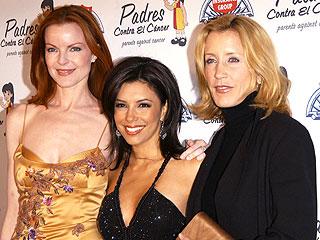Marcia Cross (izq.), Eva Longoria y Felicity Huffman (der.)