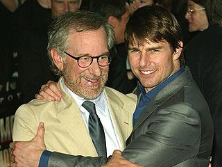 Steven Spielberg y Tom Cruise
