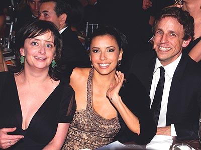 Rachel Dratch, Eva Longoria y Seth Meyers.