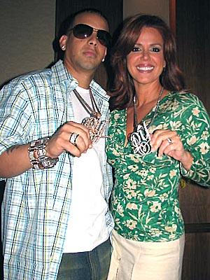 Daddy Yankee y María Celeste Arrarás