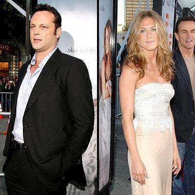 Vince Vaughn y Jennifer Aniston en el estreno de The Break-up