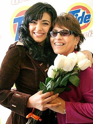 Graciela Beltrán y su mamá