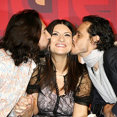 Marco Antonio Solís, Laura Pausini y Marc Anthony