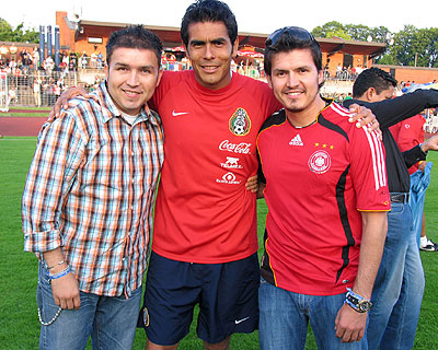 Poncho Lizarraga, Oswaldo Sanchez y Joel Lizarraga