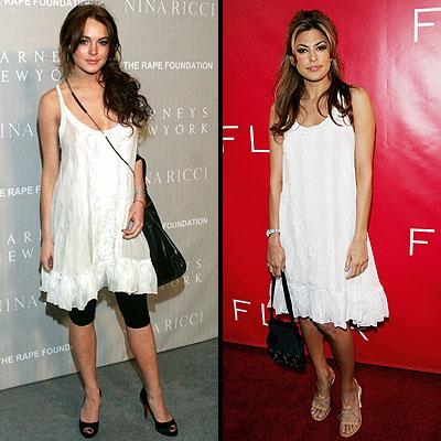 Lindsay Lohan y Eva Mendes