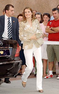 La princesa Letizia en Madrid.