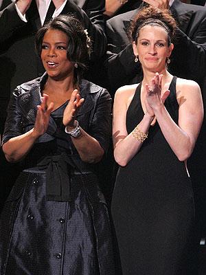 Oprah Winfrey y Julia Roberts