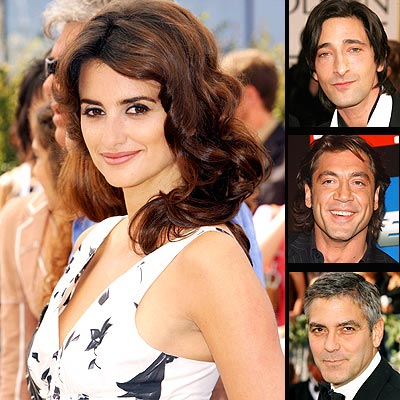 Penélope Cruz, Adrien Brody, Javier Bardem, George Clooney