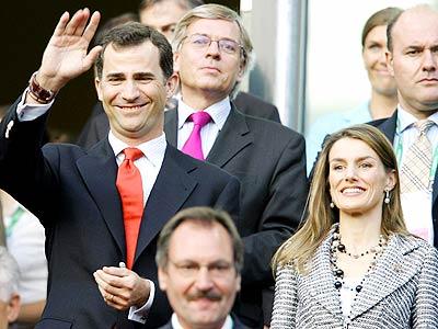 Los príncipes de Asturias despidieron a España en el Mundial.