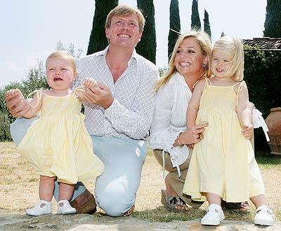 La familia real de Holanda.