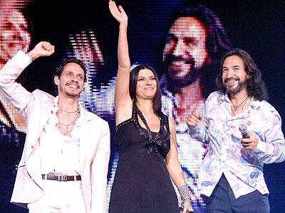 Marc Anthony, Laura Pausini y Marco Antonio Solís