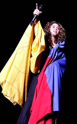Shakira terminó su gira española en Tenerife.