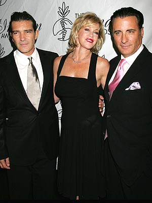 Antonio Banderas, Melanie Griffith y Andy García