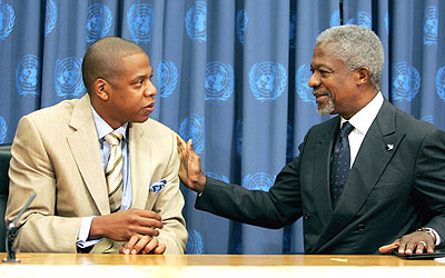 Jay z and Khofi Annan
