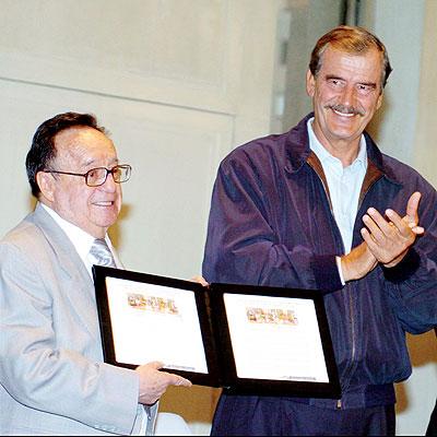 Roberto Gomez Bolaños y Vicente Fox