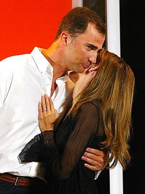 Príncipe Felipe y la princesa Letizia