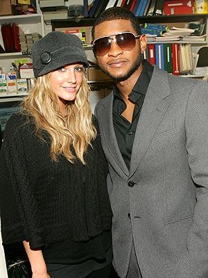 Usher y Ashley Simpson