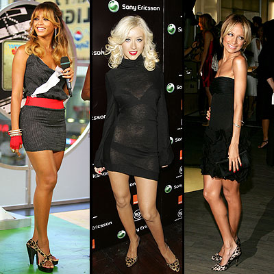 Beyonce, Christina Aguilera, Nicole Ritchie