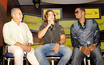 Emilio Estefan, Christian Daniel y Diddy.