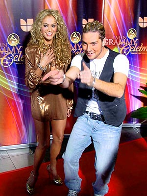 David Bisbal y Paulina Rubio
