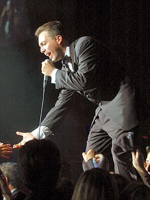Cristian Castro en concierto.