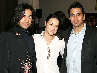 Michelle Rodriguez y Anand John