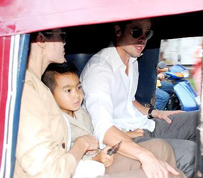 Angelina Jolie, Maddox y Brad Pitt