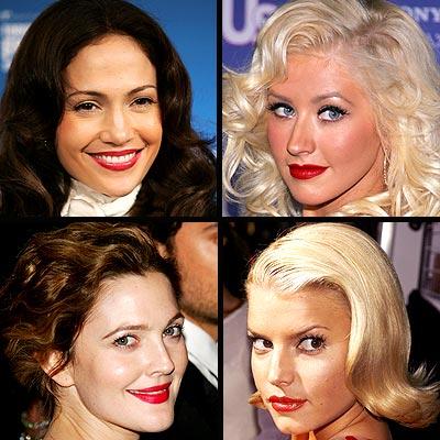Jennifer López, Christina Aguilera, Drew Barrimore y Jessica Simpson
