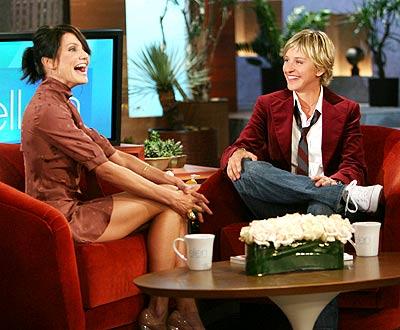 Cameron Díaz en el show de Ellen Degeneres.