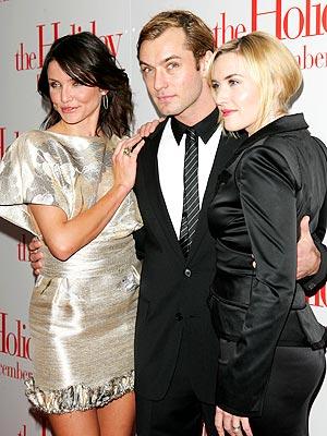Cameron Díaz, Jude Law y Kate Winslet.