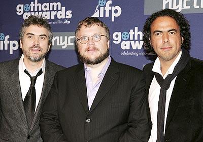 Alfonso Cuarón, Guillermo del Toro y Alejandro González Iñárritu.