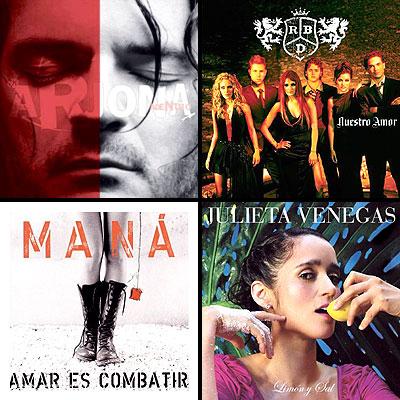 Ricardo Arjona; Julieta Venegas; Maná; RBD