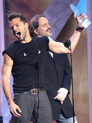 Ricky Martin y Miguel Bosé