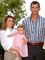La princesa Letizia, el príncipe Felipe y la infanta Leonor