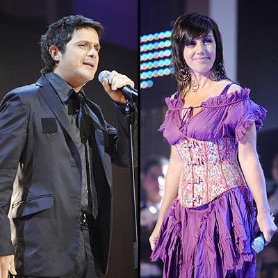 Alejandro Sanz y Ana Torroja