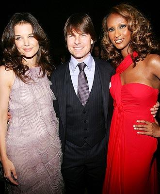 Katie Holmes, Tom Cruise e Iman.