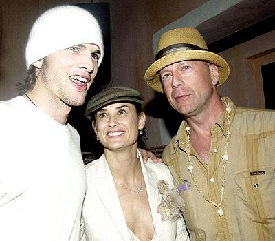 Ashton Kutcher, Demi Moore y Bruce Willis