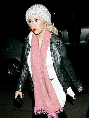 Christina Aguilera en Londres.