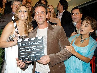 El elenco de Dame Chocolate