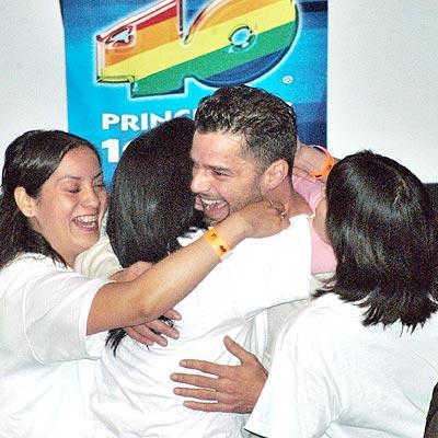 Ricky Martin en México.