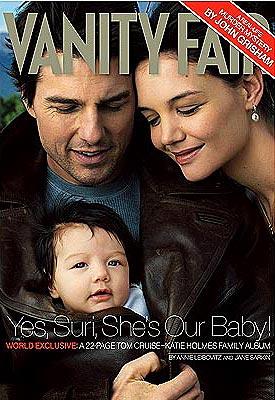 Tom Cruise, Katie Holmes y Suri.