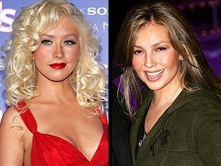 Christina Aguilera y Thalía